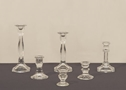 VINTAGE GLASS TAPER CANDLEHOLDERS