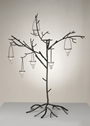 BLACK TREE CENTERPIECE WITH VOTIVE HOLDERS