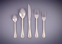 Gold Trim Flatware, Stainless With Trim