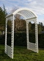 Arch, White Lattice Deluxe $45