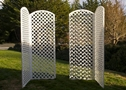 White Lattice Arched Room Divider $40.