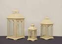 Melrose Lanterns, Ivory 3 Sizes Available.