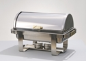 STAINLESS ROLL TOP CHAFING DISH