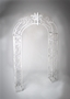 ANTIQUE WHITE IRON ARCH